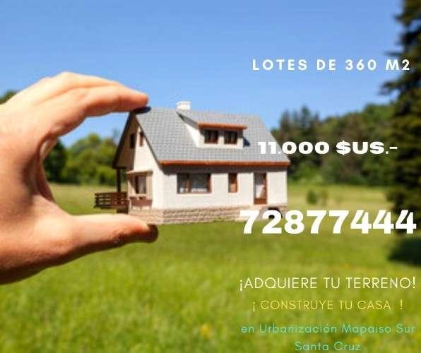 11.000 dolares - lotes de 360 m2 - precio de ocasion1604719545