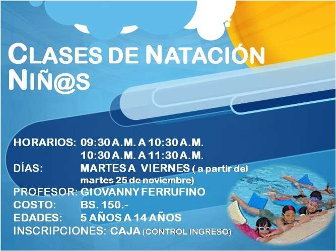 Cursos de natación1234316987