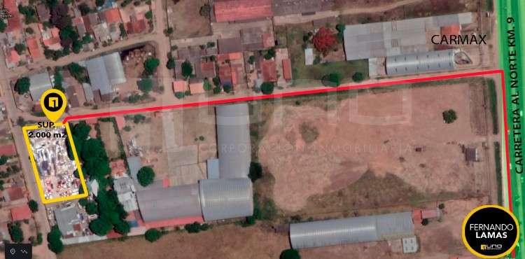 Amplio terreno en alquiler en esquina, zona avenida banzer, km 102035648682