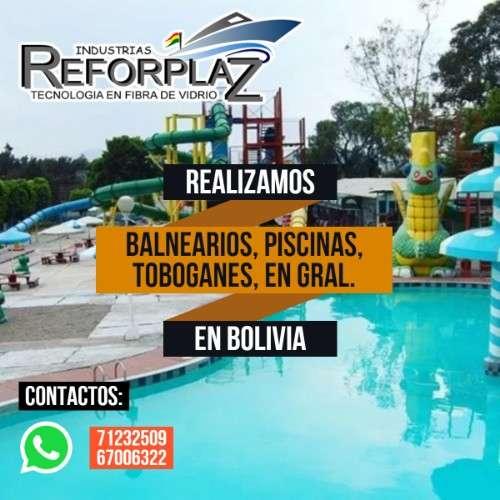 Diseños exclusivos y construcción de balnearios,toboganes, piscinas y parques acuáticos en bolivia184391668
