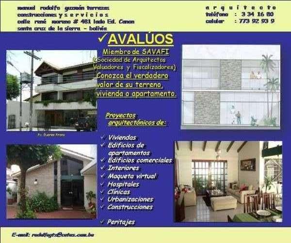 Avalúos de inmuebles y proyectos arquitectonicos1310621307