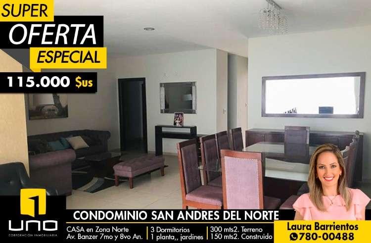 Casa en condominio san andrés del norte, av. banzer entre 7mo y 8vo anillo170953227