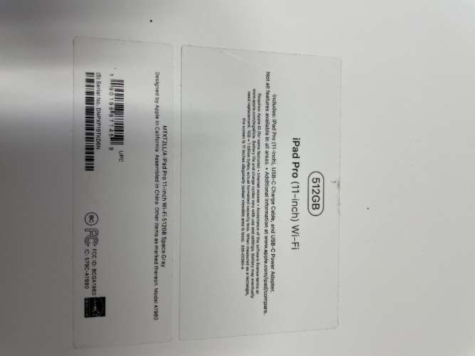 Ipad pro 11 de 512 gb wifi995254299