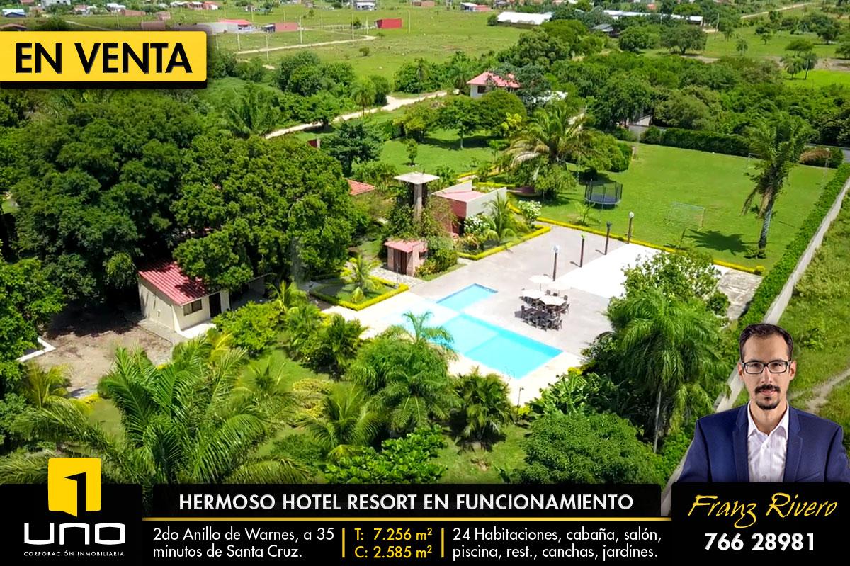 Hotel resort en venta en warnes623396811