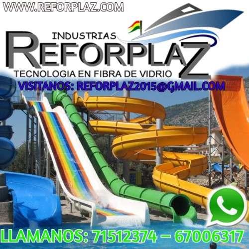 Industrias de toboganes acuáticos embarcaciones tanques industriales y parques infantiles.992336830