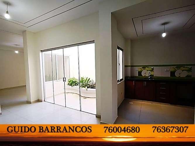 Venta!! nuevo, amplio y hermoso departamento en planta baja con 125m2  ubicado en zona el deber.826081066