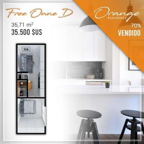 Departamento en pre venta de 1 dormitorio, condominio orange1242729565