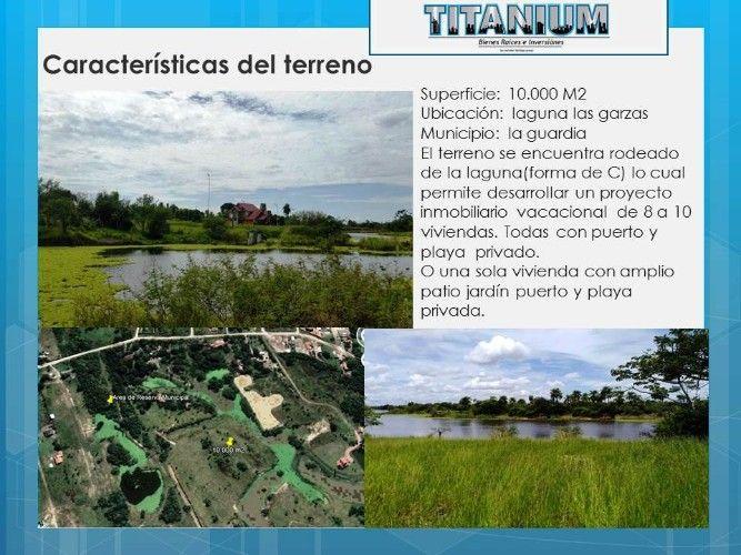 Vendo valioso terrenos en la guardia, con vista y sobre la laguna las garzas1165898533