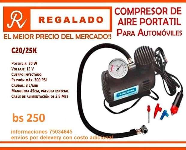 Compresor portatil vehicular762886527