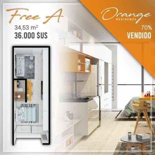 Departamento en pre venta tipo monoambiente, condominio orange593516864