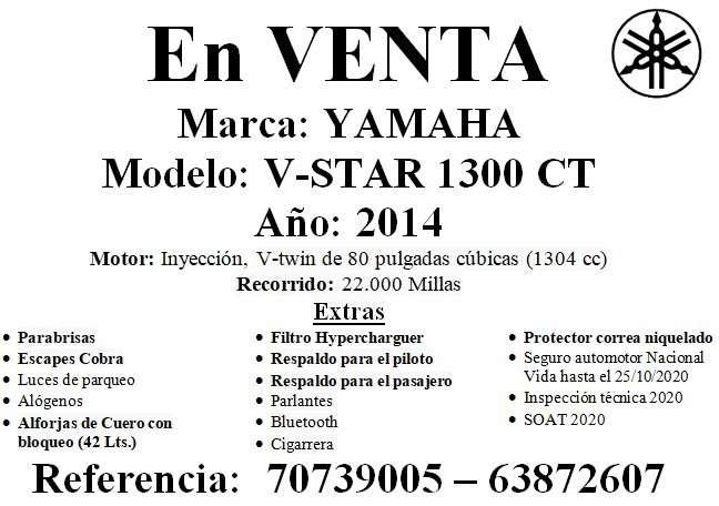 Yamaha v-star 1300 ct mod 2014, red 707390051270656132