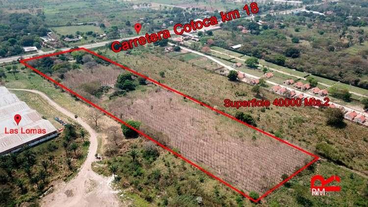En venta 4 hectáreas sobre carretera a cotoca km 18649204060