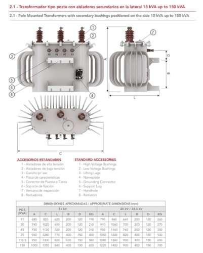 Transformador de 150kva 10.5/0.4 kv 50hz2094669630