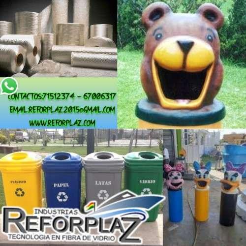 Realizamos basureros ecologicos de fibra de vidrio901736852