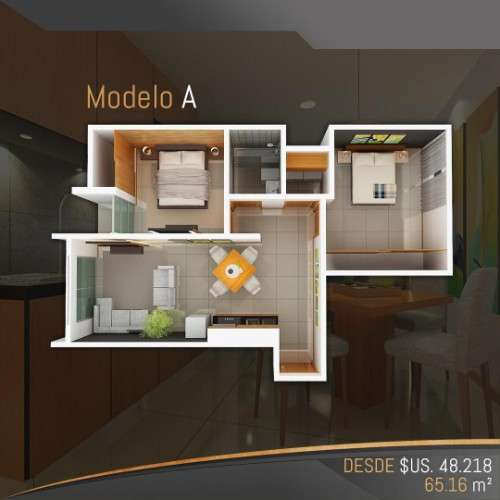 Departamento en pre-venta de 2 dormitorios, en condominio alemana1229511213