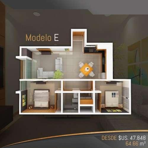 Departamento en pre-venta de 2 dormitorios, en condominio alemana1601532695