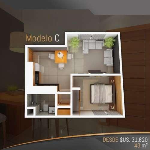 Departamentos en pre-venta de 1 dormitorio en condominio alemana1554996660