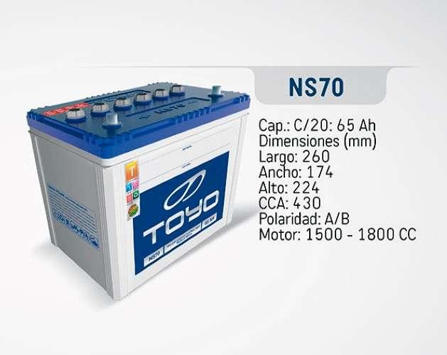 Baterías toyo - n70s576629617