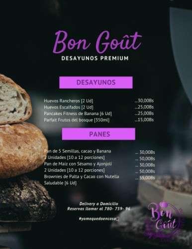 Desayunos premium bon goût ?? ▪️con todas las medidas de bioseguridad para tu tranquilidad. disfruta de nuestro delicioso y saludable menú con productos frescos.492634757