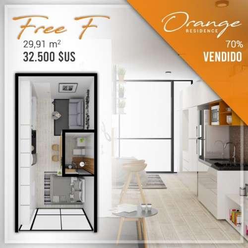 Departamento en pre venta tipo monoambiente, condominio orange128787777