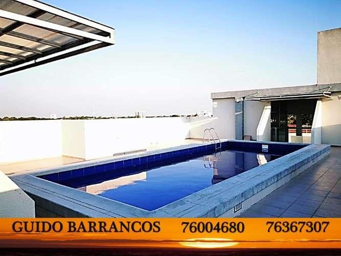 Venta!! nuevo, amplio y hermoso departamento en planta baja con 125m2  ubicado en zona el deber.812560268