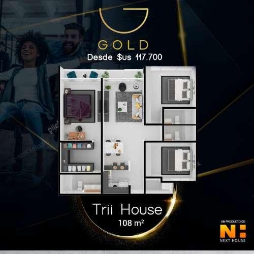 Departamento en pre-venta de 3 dormitorios, en edificio gold311138645