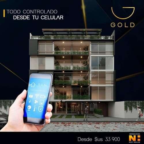 Departamento en pre-venta de 3 dormitorios, en edificio gold921098621
