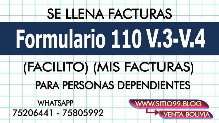 Se llena facturas formulario 110 v.3 v.41572607172