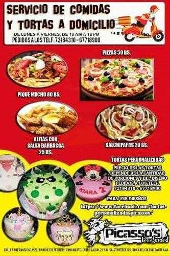 Servicio de comidas y tortas a domicilio765429572