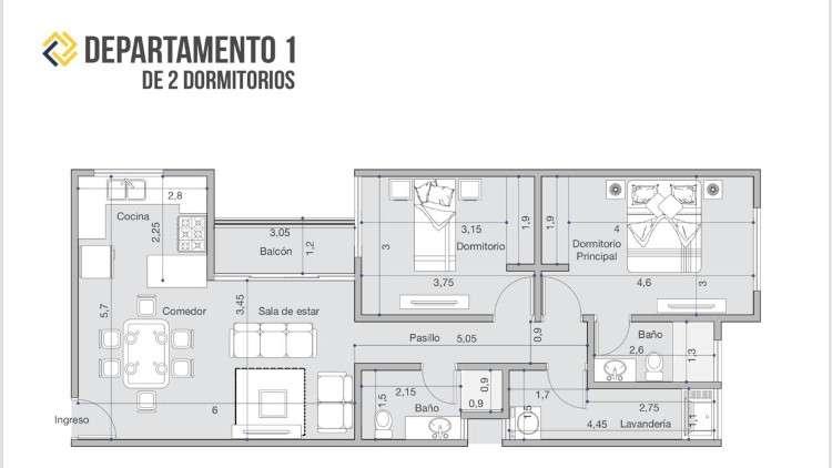 Equipetrol - departamento de 1 y 2 dormitorios en preventa.1066547783
