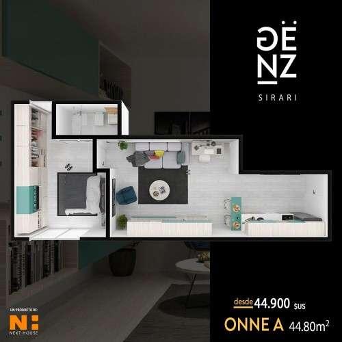 Departamento en pre-venta de 1 dormitorio, edificio genz sirari1701723139