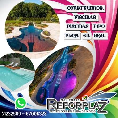 Reforplaz expertos en construcción  y diseños de piscinas normales y tipo playa en bolivia1706325747