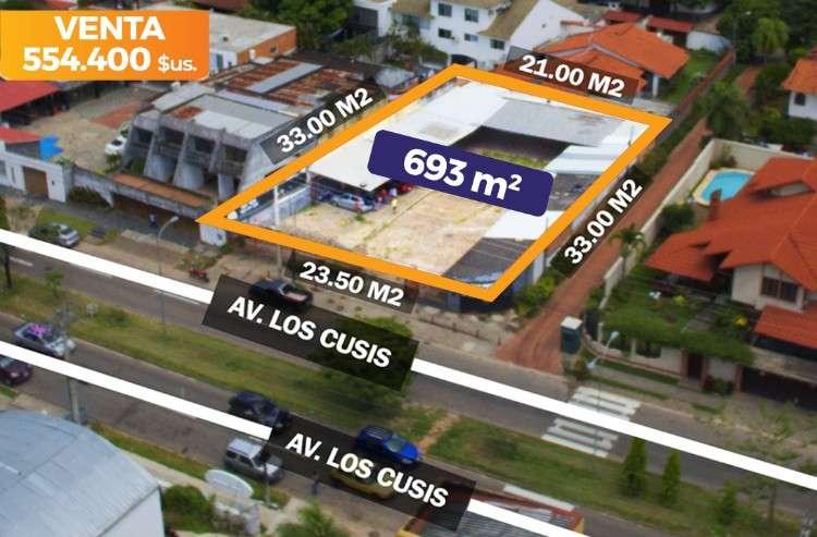 Terreno en esquina, sobre avenida los cusis (entre beni y alemana)979469874