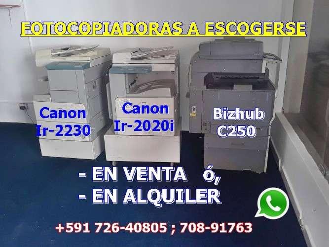 Venta fotocopiadoras seminuevas canon!116735207