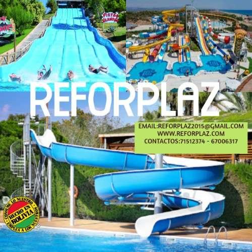 Piscinas, puertas, pisos de fibra de vidrio, toboganes, parques infantiles fabricados en bolivia3421455