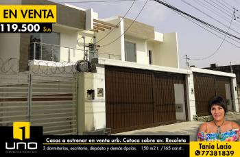 Hermosas Casas En Venta A Estrenar Urb.