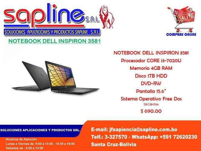 Notebook Dell Inspiron 3581?