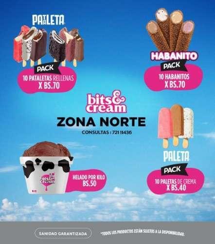 Helados Bits & Cream Zona Norte