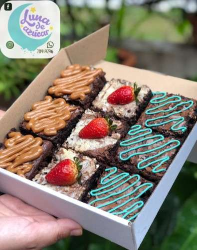 Brownies Pack 9 Con 3 Toppings