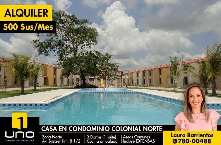 Casa En Alquiler, Condominio Colonial No