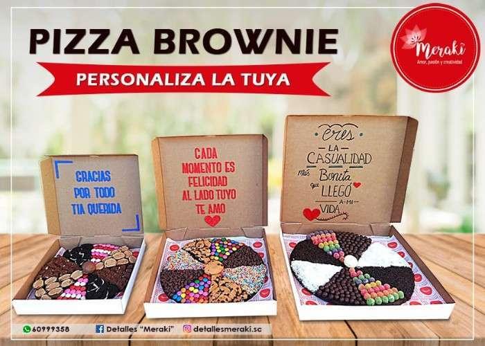 Pizza Brownie Personalizada