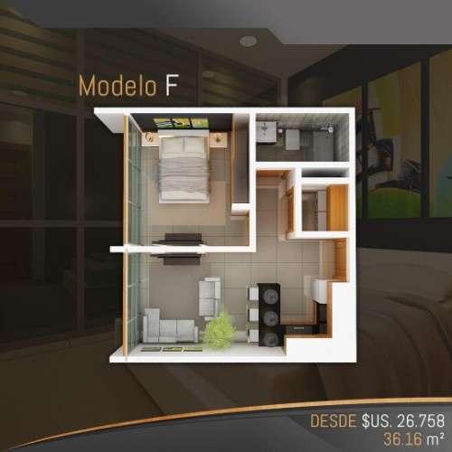 Departamentos En Pre-venta De 1 Dormitor