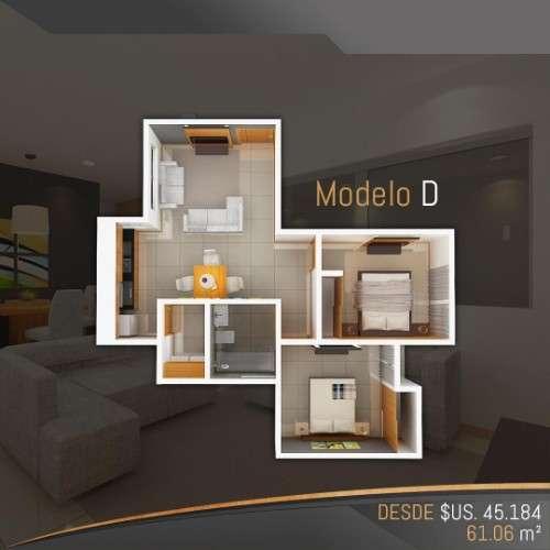 Departamento En Pre-venta De 2 Dormitori