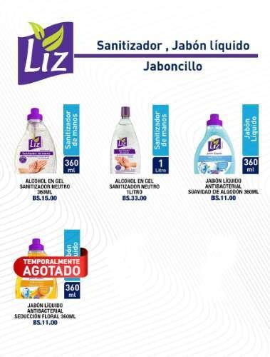 Liz Sanitizador, Jabon Liquido Y Jabonci