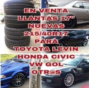 En Venta Llantas 215/40r17 Nuevas-deport