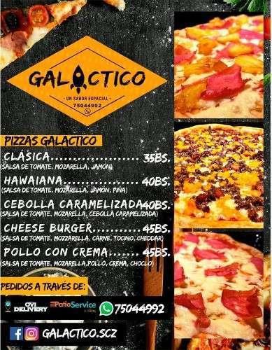 Menú Pizza Galáctico