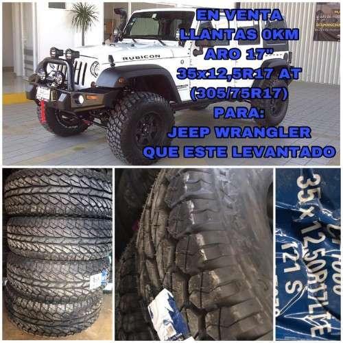 35x12,5r17 Llantas Aro 17-venta -jeep Wr
