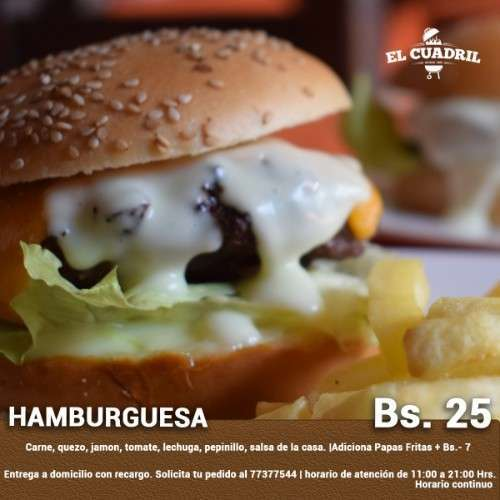 Hamburquesa - Churrasqueria El Cuadril