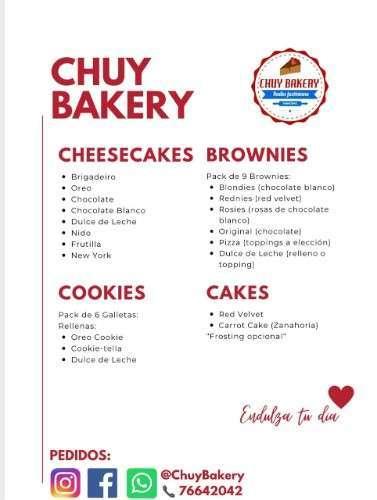Chuy Bakery Menu