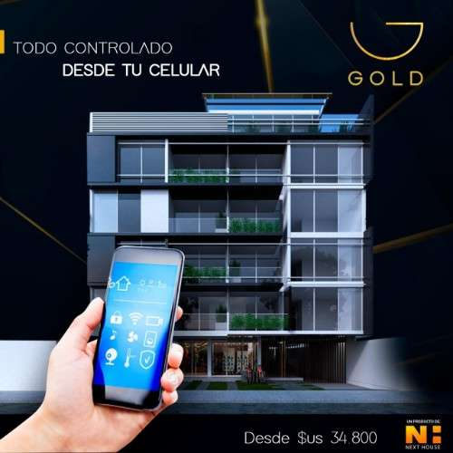 Departamento en pre venta de 1 dormitorio, edificio gold1946722207